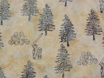 A Hoffman Bali Batik Minnesota Charms Exclusive F2107 544 Beachsand Trees/Ax