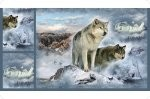 Hoffman Call of the Wild Digital Cuddles Poly Plush 4439 Wolves, Shannon Fabrics