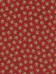 Tossed Gingerbread Men CF3380 Red Flannel, Timeless Treasures