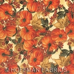 Maple Lane L7321 33G Cream Gold Small Pumpkins, Hoffman