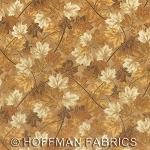 Maple Lane L7322 33G Cream Gold Maple Leaves, Hoffman