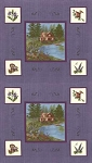 Lady Slipper Lodge 6580 18 Panel Purple, Holly Taylor by Moda