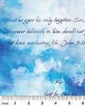 John 3:16 Heavenly Blue 4895 55 Bible Study, Kanvas