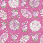 A Little Romance Parasols Pink, April Cornell by Moda
