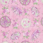 A Little Romance Parasols Light Pink, April Cornell by Moda
