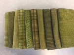 New Woolies Fat 10 Bundle Medium Green, Maywood Studio Flannel