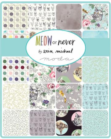 Meow Or Never Charm Pack Erin Michaels By Moda Hingeley