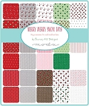 Merry Merry Snow Jelly Roll, Bunny Hill by Moda