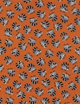Timeless Treasures Flannel CF1814 Orange Mini Racoons