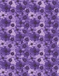 Misty CD6843 Purple Digital Packed Flowers, Chong a Hwang by Timeless Treasures
