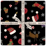 Most Wonderful Time Flannel Layer Cake Squares, Maywood Studio