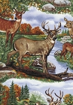 Timeless Treasures Nature C8180 Deer