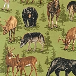 Nature Studies Flannel 14489 35 Spring Animals, Kaufman