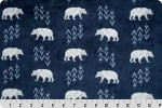 Premier Bearfoot Cuddle Poly Plush Navy, Shannon Fabrics