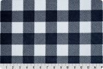 Buffalo Check Cuddle Poly Plush Navy Snow, Shannon Fabrics