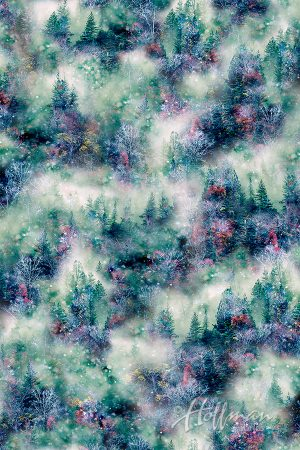 Call of the Wild Winter Forest P4355 309 Viridian, Hoffman Digital Print
