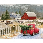 Christmas Memories 8691 Country Memories Digital Panel, Riley Blake