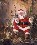 Christmas Memories 8692 Santa Dear Digital Panel, Riley Blake