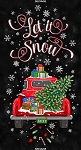 Let It Snow C6883 Black 24 Inch Holiday Panel, Timeless Treasures