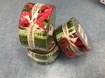 Poinsettia and Pine Jelly Roll Strips, Maywood Studio