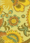 Timeless Treasures Portobello Focal Floral  C7944 Yellow