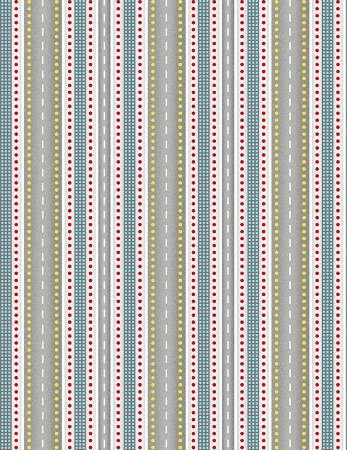 Ready for Takeoff 65190 994 Highway Stripe Grey, Wilmington Prints