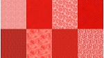 Spectrum Digital Fat Quarter Panel Q4481 143 Ruby, Hoffman