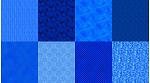 Spectrum Digital Fat Quarter Panel Q4481 230 Sapphire, Hoffman