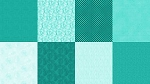Spectrum Digital Fat Quarter Panel Q4481 61 Turquoise, Hoffman