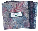 Jewels Batiks Chill Layer Cake Squares, Wilmington Prints
