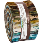 Wildlife Sanctuary 5 Batik Jelly Roll Strips, Kaufman