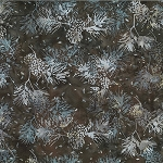 Bali Batik R2205 514 Brown Sugar Pine Cone Needles, Hoffman