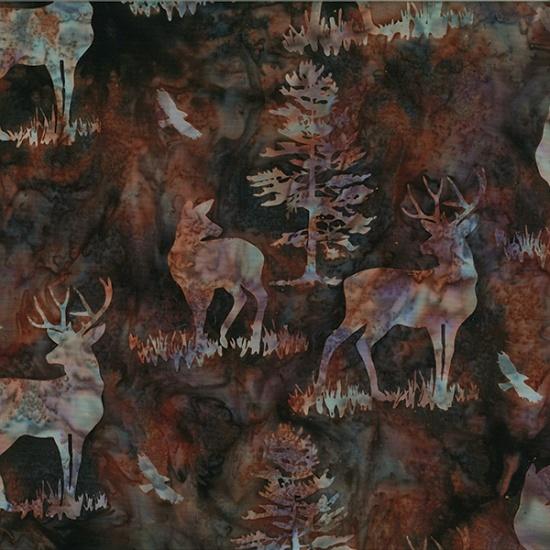 Watercolour 1895 100/% Cotton Squid Hoffman Batik Fabric
