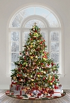 Ole St Nick Digital Panel R4571 191 Christmas Tree, Hoffman
