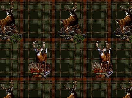 Realtree Flannel 10026 Deer Plaid Print Concepts