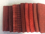 New Woolies Fat 10 Bundle Red, Maywood Studio Flannel