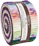 Rosette Batik Jelly Roll Strips, Kaufman