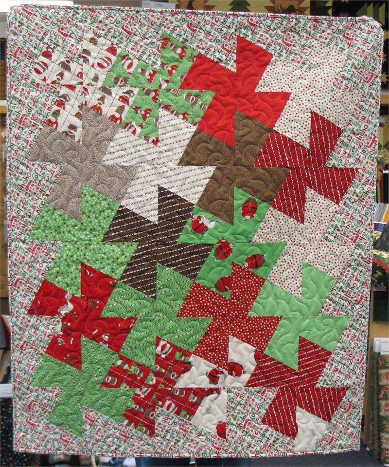 A Baby Cakes Twister Quilt Kit Sample