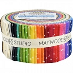 Beautiful Basics Scattered Dot Jelly Roll Strips, Maywood Studio