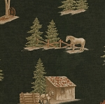 Simpler Time 6390 16 Allover Black Logging Cabin Moda Holly Taylor