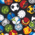 Sports Life 3 14617 2 Black Soccer Balls, Kaufman