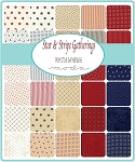 Star and Stripe Gatherings Charm Pack, Primitive Gatherings by Moda