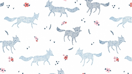 Pine Grove 699 White Dotted Foxes, Dear Stella