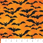 Stonehenge Fright Night 20354-59 Orange Bats, Northcott