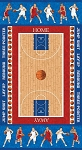 Stonehenge Kids Hoops 20427 42 Basketball Court Panel, Northcott