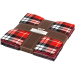 Mammoth Flannel 10 Inch Layer Cake Squares Red, Kaufman