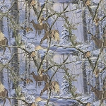 Realtree 10099 Deer at Dusk Flannel, Print Concepts