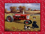 Farmall Tractor Field Dog Panel 10116, Print Concepts