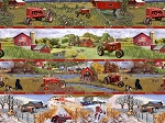 Farmall Four Seasons Horizontal Stripe 10119, Print Concepts