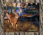 Realtree 10164 Deer Cabin Panel, Print Concepts